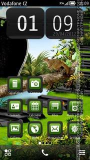 Скриншот темы Green Musicale