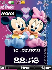 Mickey n Minnie New CLK tema screenshot