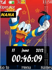 Donald Hat CLK tema screenshot