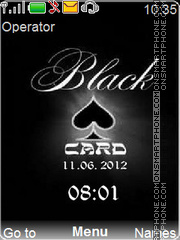 Black Card Theme-Screenshot