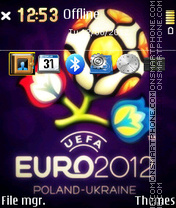 Euro 2012 - Football theme screenshot