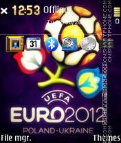 Euro 2012 - Football tema screenshot