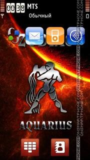 Aquarius 11 tema screenshot