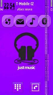 Just Music es el tema de pantalla
