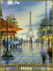 Paris city of love theme screenshot