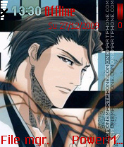 Aizen Sousuke theme screenshot