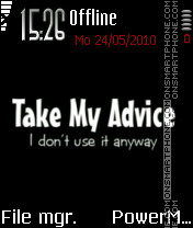 My Advice theme screenshot