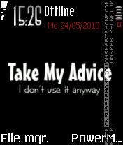 My Advice es el tema de pantalla