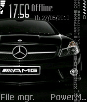 Black Mercedes Amg theme screenshot