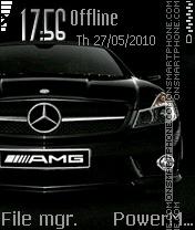 Скриншот темы Black Mercedes Amg