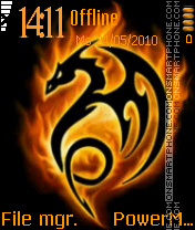 Tribal Dragon Fire es el tema de pantalla