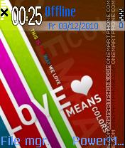 Love Means es el tema de pantalla