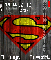 Superman Wood theme screenshot
