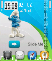 Smurfs Reloaded v2 theme screenshot