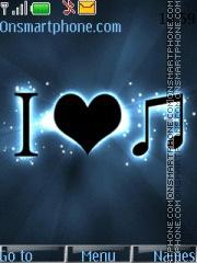 I love music 05 es el tema de pantalla