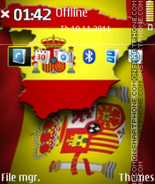 Spain Flag 01 theme screenshot