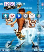 Скриншот темы Ice Age Continental Drift