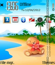 Beach Teddy theme screenshot