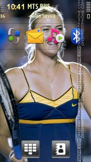 Maria Sharapova 07 theme screenshot
