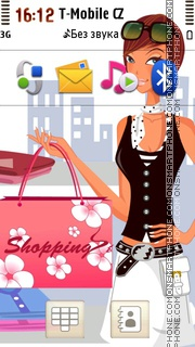 Happy Shop Girl theme screenshot