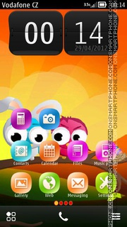 Скриншот темы Easter Birds