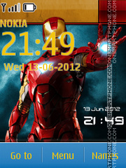 Ironman 3 With Clock theme screenshot