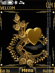 Golden heart theme screenshot