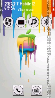 Melting Apple theme screenshot