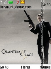 Скриншот темы Quantum of Solace - James Bond (Black)