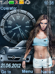 Car and Girl theme screenshot