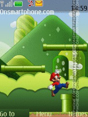 Super Mario Game theme screenshot