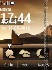 Скриншот темы 3d Landscape