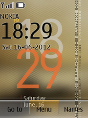 Digital Clock 03 tema screenshot