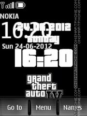 Gta clock theme screenshot