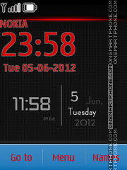 Android View Clock theme screenshot