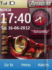 Avengers Clock theme screenshot