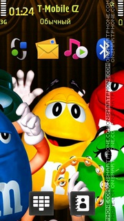 M And Ms 02 es el tema de pantalla