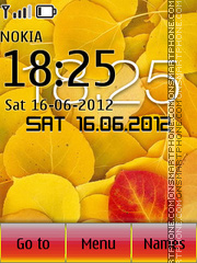 Yellow Leaves 01 theme screenshot
