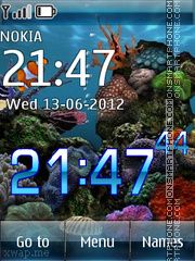 Aquarium 09 theme screenshot