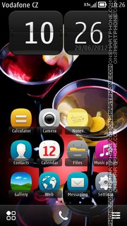 Cocktail With Olives 01 theme screenshot