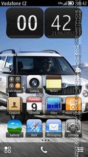 Skoda Yeti theme screenshot