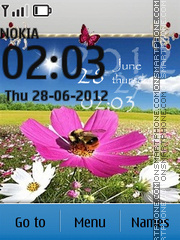Flower Meadows theme screenshot