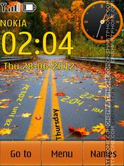 Скриншот темы Nature Clock