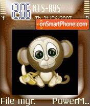 Animated Cute Monkey 01 es el tema de pantalla