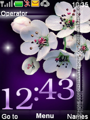 Flowers theme screenshot
