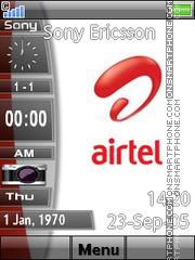 Airtel slide bar es el tema de pantalla