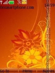 Orange Flower 01 theme screenshot