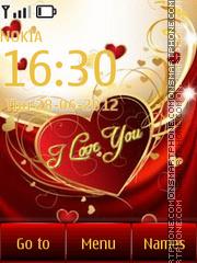 Скриншот темы I love you 06