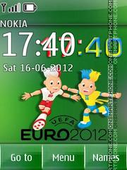 Euro 2012 clock 01 theme screenshot