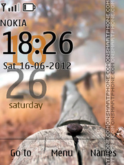 Misty Nature Clock tema screenshot